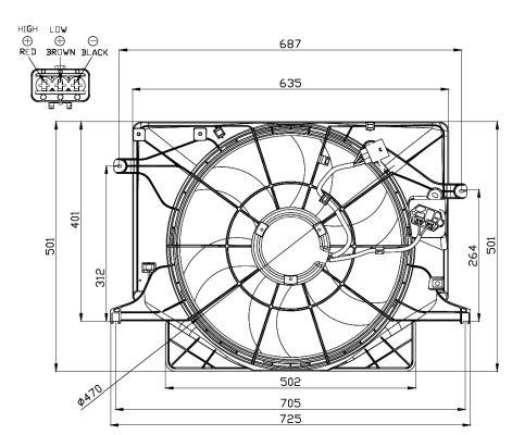 Ventilateur de radiateur NRF 47559 (X1)