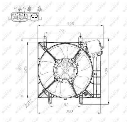 Ventilateur de radiateur NRF 47575 (X1)
