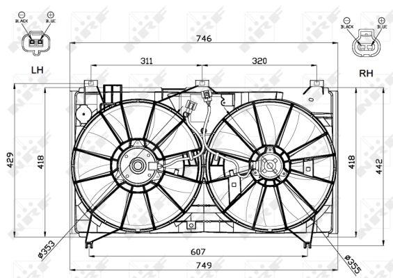 Ventilateur de radiateur NRF 47580 (X1)