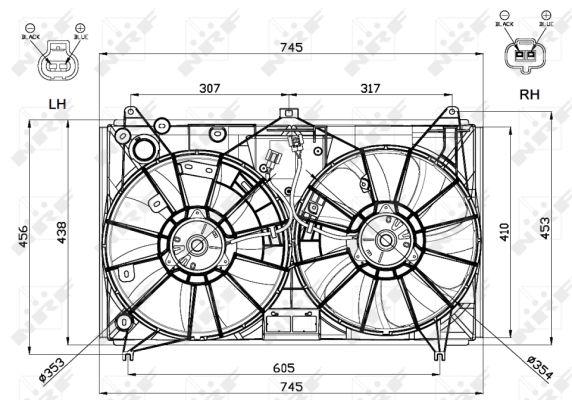 Ventilateur de radiateur NRF 47581 (X1)