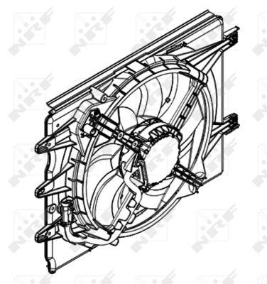 Ventilateur de radiateur NRF 47595 (X1)