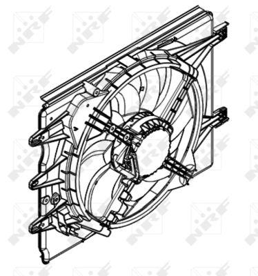Ventilateur de radiateur NRF 47596 (X1)