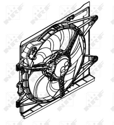 Ventilateur de radiateur NRF 47597 (X1)