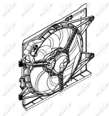 Ventilateur de radiateur NRF 47598 (X1)