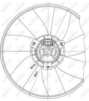 Ventilateur de radiateur NRF 47660 (X1)