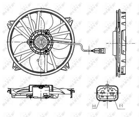 Ventilateur de radiateur NRF 47665 (X1)