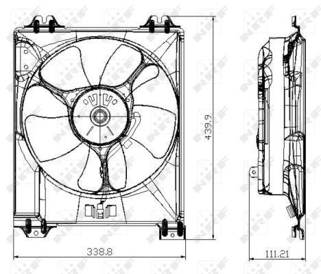 Ventilateur de radiateur NRF 47677 (X1)