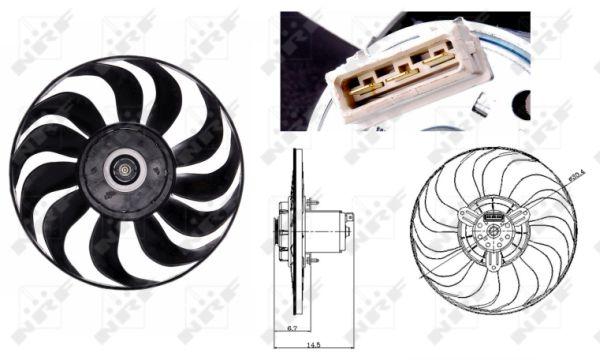 Ventilateur de radiateur NRF 47700 (X1)