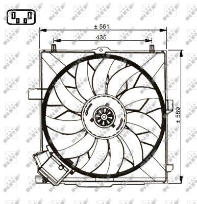 Ventilateur de radiateur NRF 47732 (X1)