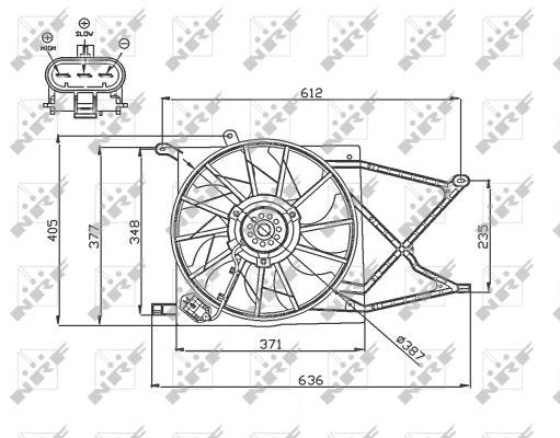Ventilateur de radiateur NRF 47749 (X1)