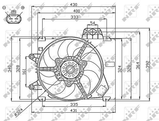 Ventilateur de radiateur NRF 47750 (X1)