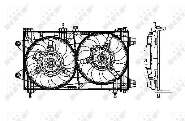Ventilateur de radiateur NRF 47802 (X1)