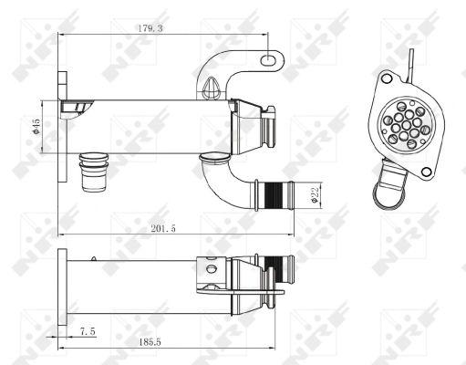Refroidisseur d'echappement NRF 48006 (X1)