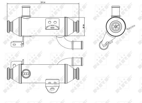 Refroidisseur d'echappement NRF 48008 (X1)