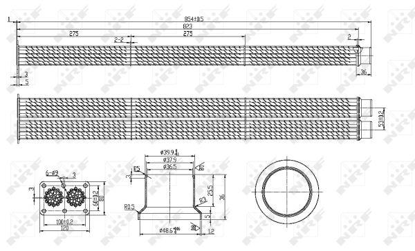 Refroidisseur d'echappement NRF 48101 (X1)