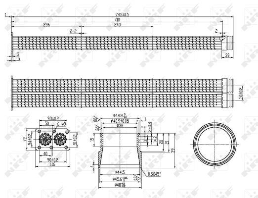 Refroidisseur d'echappement NRF 48103 (X1)