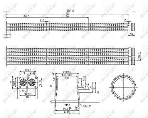 Refroidisseur d'echappement NRF 48105 (X1)