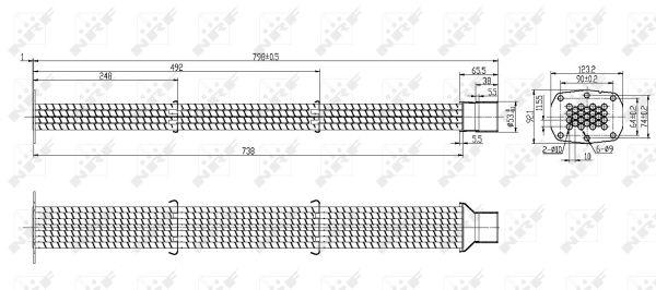 Refroidisseur d'echappement NRF 48106 (X1)