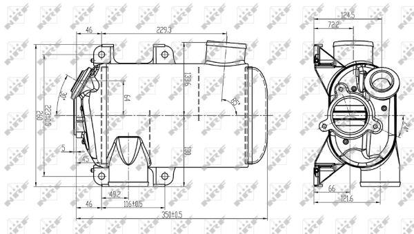 Refroidisseur d'echappement NRF 48108 (X1)