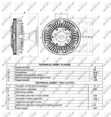 Embrayage de ventilateur refroidissement NRF 49161 (X1)