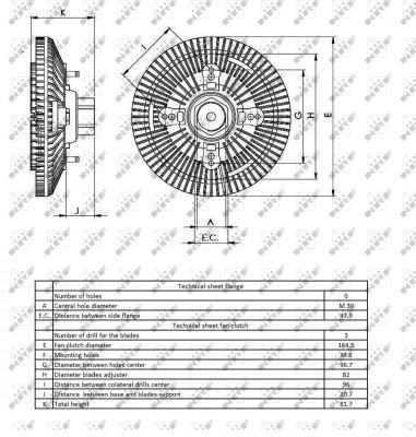 Embrayage de ventilateur refroidissement NRF 49404 (X1)