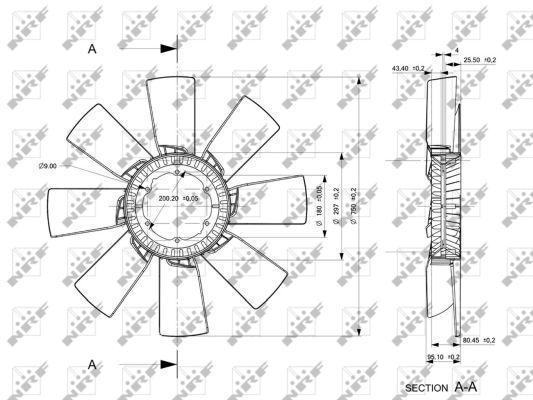 Ventilateur de radiateur NRF 49857 (X1)