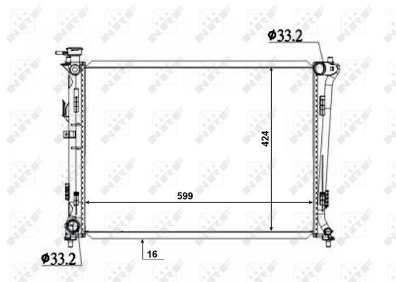 Radiateur de refroidissement NRF 50136 (X1)