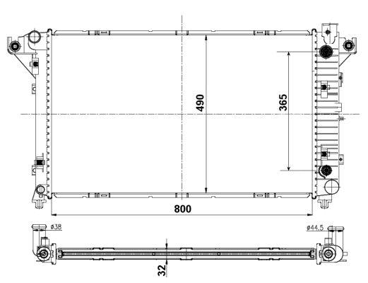 Radiateur de refroidissement NRF 50248 (X1)