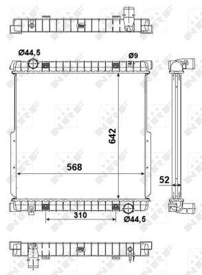 Radiateur de refroidissement NRF 50271 (X1)