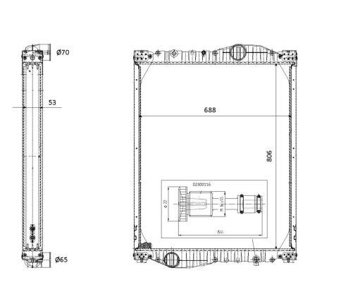Radiateur de refroidissement NRF 503309 (X1)