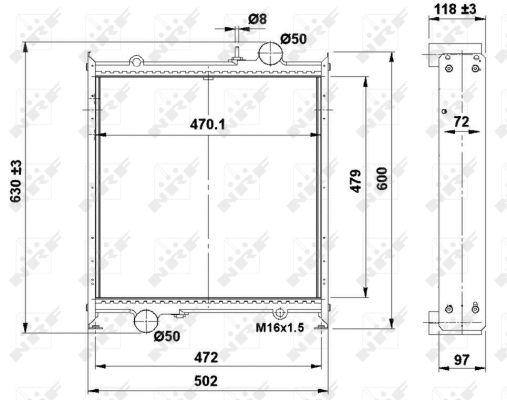 Radiateur de refroidissement NRF 504366 (X1)