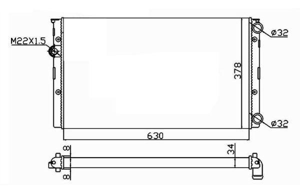 Radiateur de refroidissement NRF 50455 (X1)