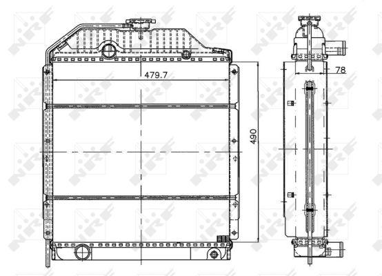 Radiateur de refroidissement NRF 50499 (X1)
