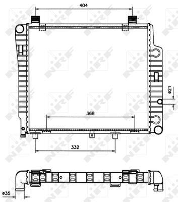 Radiateur de refroidissement NRF 50533 (X1)