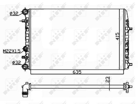 Radiateur de refroidissement NRF 50542 (X1)