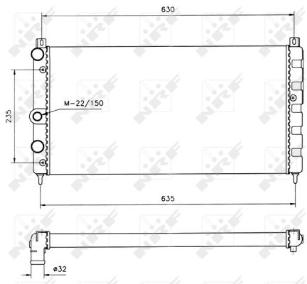 Radiateur de refroidissement NRF 50560 (X1)