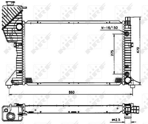 Radiateur de refroidissement NRF 50574 (X1)