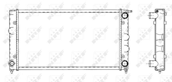 Radiateur de refroidissement NRF 509501 (X1)