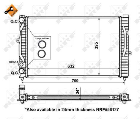 Radiateur de refroidissement NRF 509504 (X1)