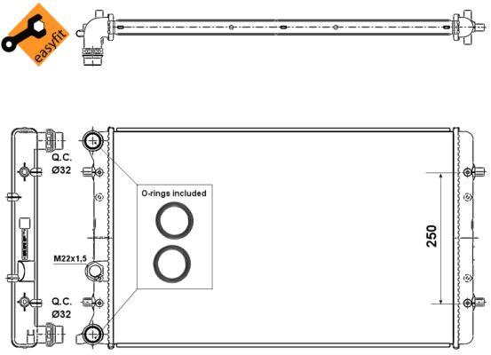 Radiateur de refroidissement NRF 509529 (X1)