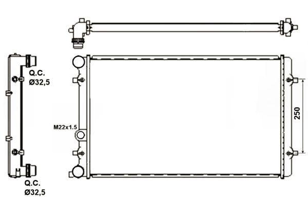 Radiateur de refroidissement NRF 509529A (X1)