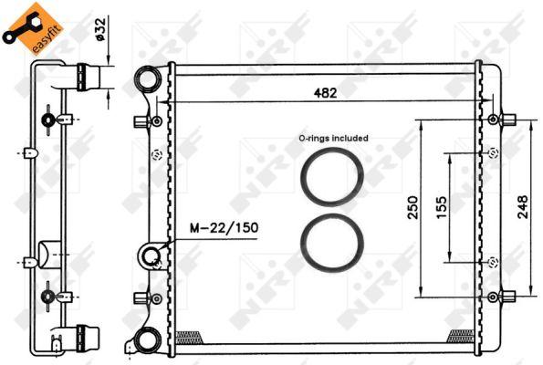 Radiateur de refroidissement NRF 509530 (X1)