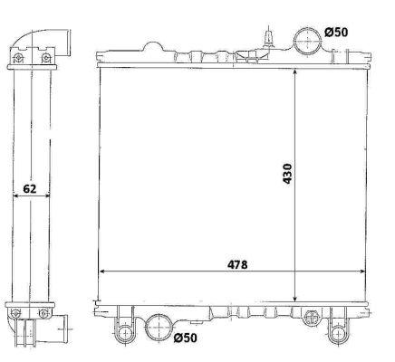 Radiateur de refroidissement NRF 513342 (X1)