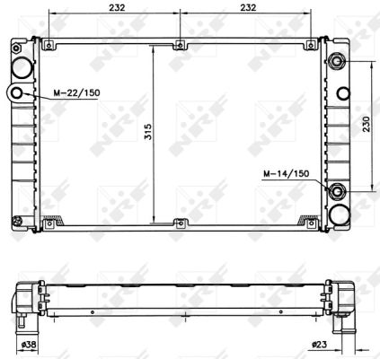 Radiateur de refroidissement NRF 51365 (X1)
