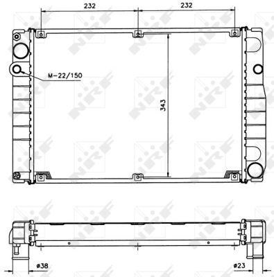 Radiateur de refroidissement NRF 51366 (X1)