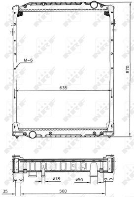 Radiateur de refroidissement NRF 51598 (X1)