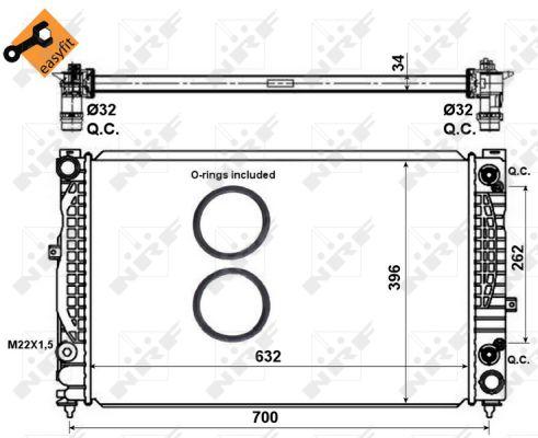 Radiateur de refroidissement NRF 519504 (X1)
