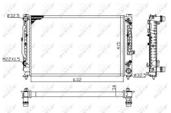 Radiateur de refroidissement NRF 519504A (X1)