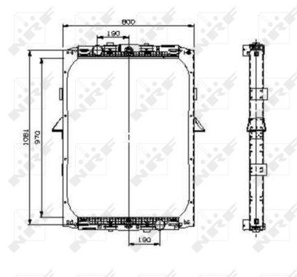 Radiateur de refroidissement NRF 519551 (X1)