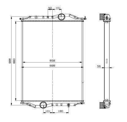 Radiateur de refroidissement NRF 519889 (X1)